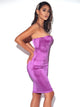 You Ain't My Boyfriend Strapless Bustier Satin Dress