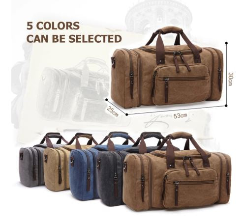 Soft Canvas Carry-On Travel Duffel Bag - Dazam