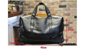 dazam - Large Leather Duffel Bag