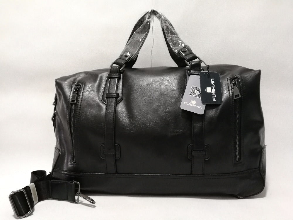 Large Leather Duffel Bag - Dazam