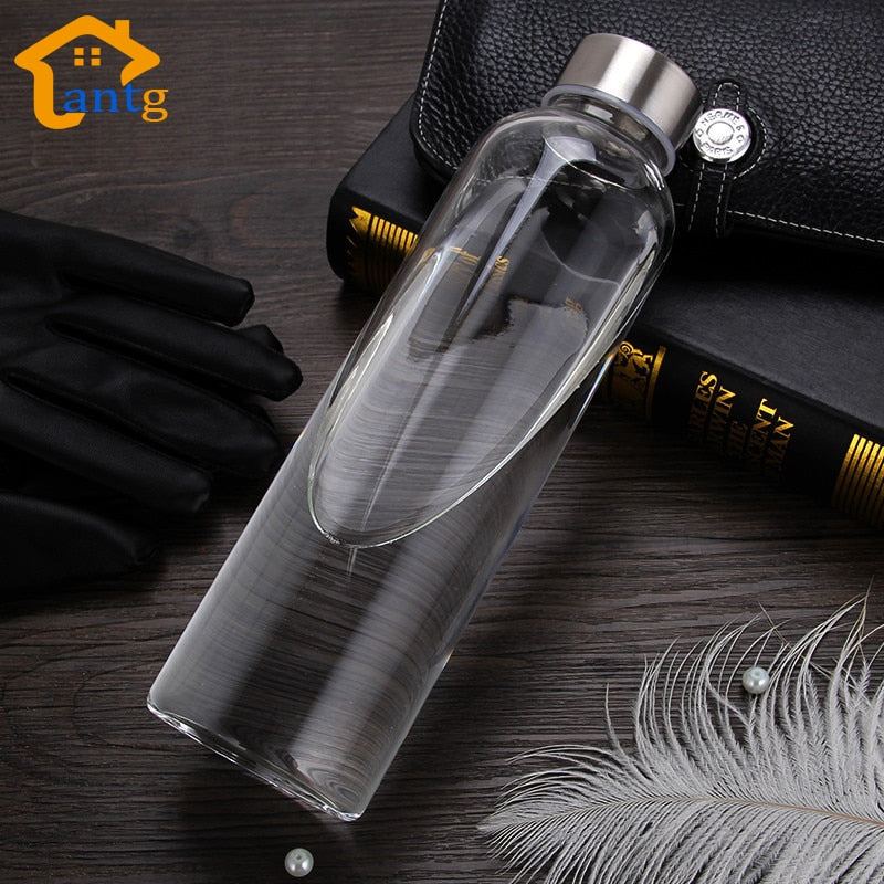 Glass Water Bottle + Protective bag - Dazam