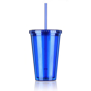 500ML Design Bottle Beaker Lid With Straw - Dazam
