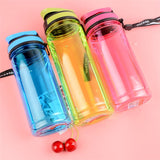 700ML Leak-Proof Plastic Water Bottles With Cover Lip Filter BPA Free - Dazam