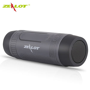 Zealot - S1 Bluetooth Bicycle Portable Speaker With LED Flashlight + Bike Mount - Dazam