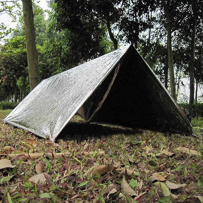 dazam - 140 x 210cm Outdoor Emergency Cold/Water-proof Blanket Shelter Tent