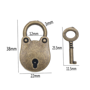 Vintage Style Mini Padlock For Multipurpose Luggage/Bags - Dazam