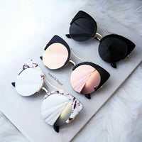 Stylish Round Cateye Sunglasses - Dazam