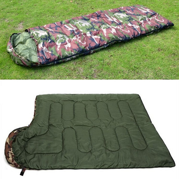 dazam - Cotton Camping Single Sleeping Bag with Camouflage Pattern