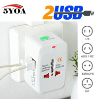 5YOA - Universal International Power Socket Adapter - 2 options - Dazam