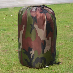 Cotton Camping Single Sleeping Bag with Camouflage Pattern - Dazam