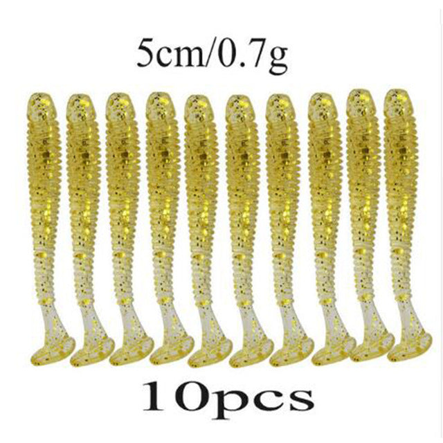 10 Pcs/pack 0.7g 5cm for Fishing Worm Lure - Dazam