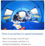Automatic throwable tent - Dazam