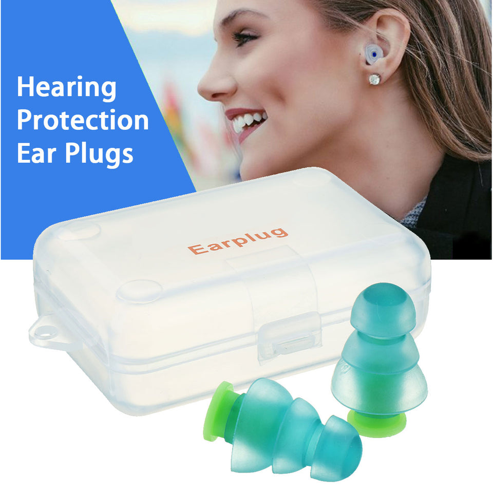Reusable Silicone Noise Cancelling Earplugs (1 pair) - Dazam