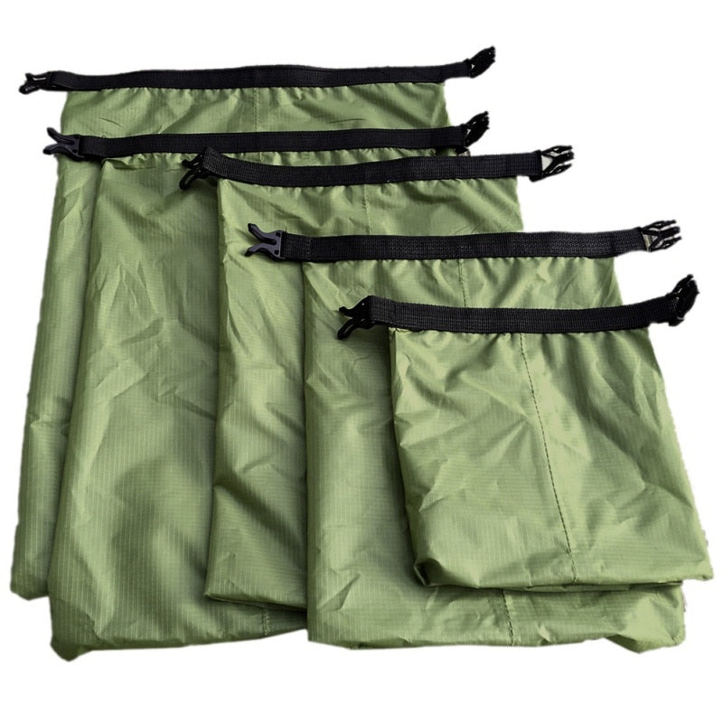 5 Pcs Set -  Outdoor Waterproof Storage Dry Bag With Adjustable Strap - Dazam