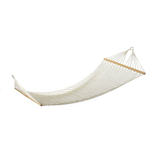 White Outdoor Rope Cotton Hammock - Dazam
