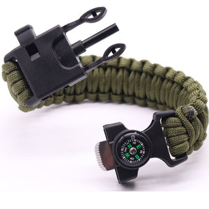 4 Pieces Paracord Bracelets with Compass + Survival Gear - Dazam