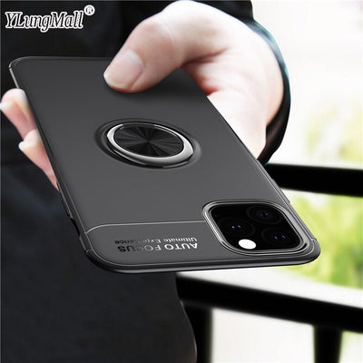 Luxury Finger Ring Case on For Funda iPhone Case Car Magnetic Bracket Cover