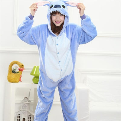 Couple Winter Pajamas Suit Sleepwear Flannel Pajama