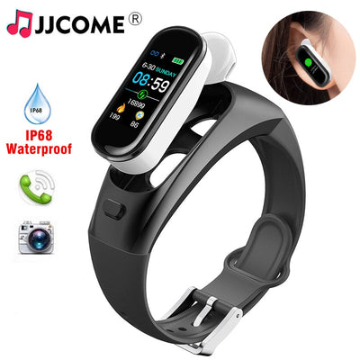 Wireless Earphone Fitness Bracelet Blood Pressure Watch With Earbuds