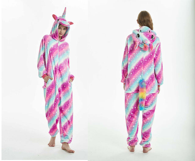 New Unicorn Pajamas Adults Animal Onesies For Unisex