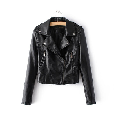 Casual Motorcycle Faux Soft Leather Jackets