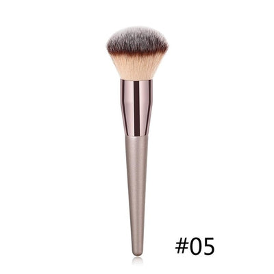 1PC Large Foundation Makeup Brushes Coffee Handle Very Soft Hair Blush