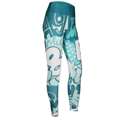 Women Digital Printing  High Waist Push Up Leggins Mujer Fitness