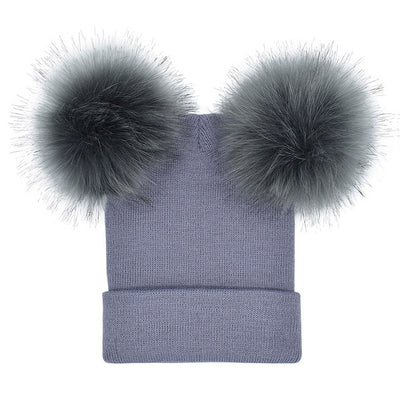 Double Puff Ball Beanie