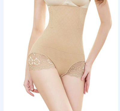 KLV M/XL Womens Shapewear Seamless Briefs Butts Lifter High Waist Body Shaper Panties Lingerie Intimates Apricot BlackNew