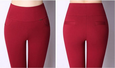 High Waist Control Fashion Women Slim Stretched Comfortable Legging