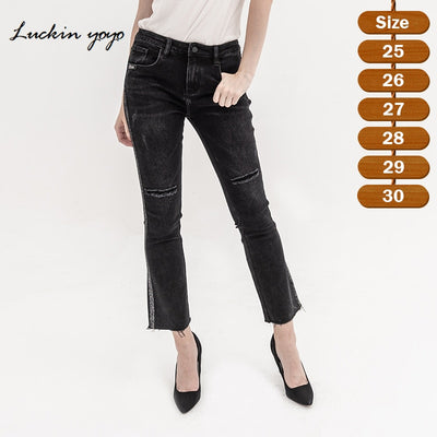 Female denim skinny pencil Ankle-Length pants