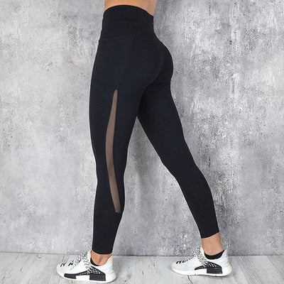 Mesh Pocket Fitness Leggings High Waist Legging