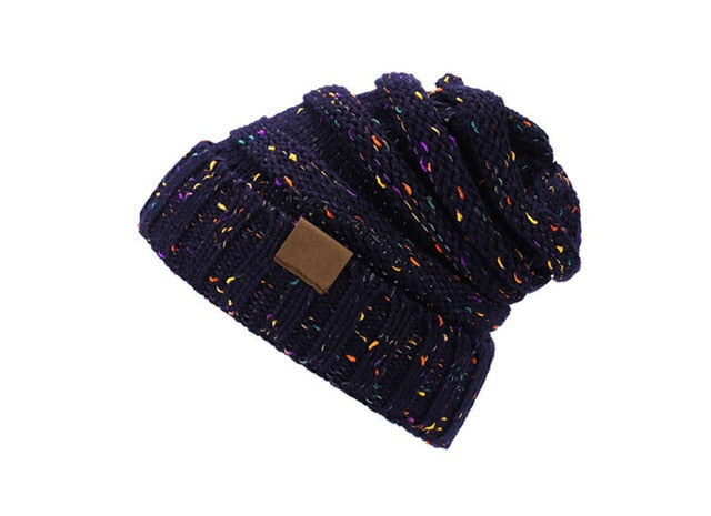 Female Ball Cap Pom Poms Winter Hat