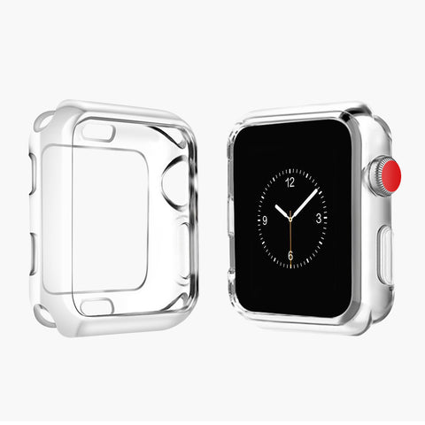 Half protection clear watch case