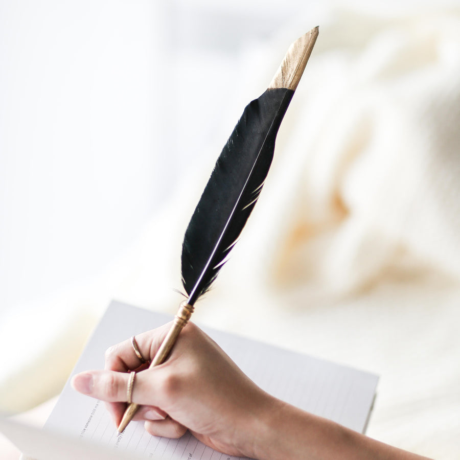 SOLD OUT | Black Feather Pen