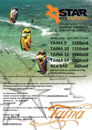 ATTENTION KITE DEALERS SOUTH BRAZIL URUGUAY ARGENTINA