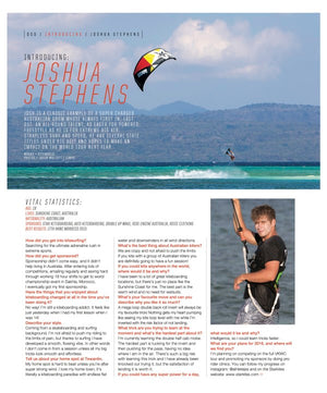 STAR PRO RIDER JOSHUA STEPHENS in KITEWORLD #78