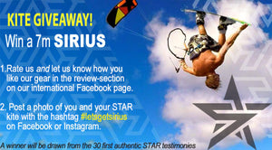 Want to win a free SIRIUS V2 7m kite ?