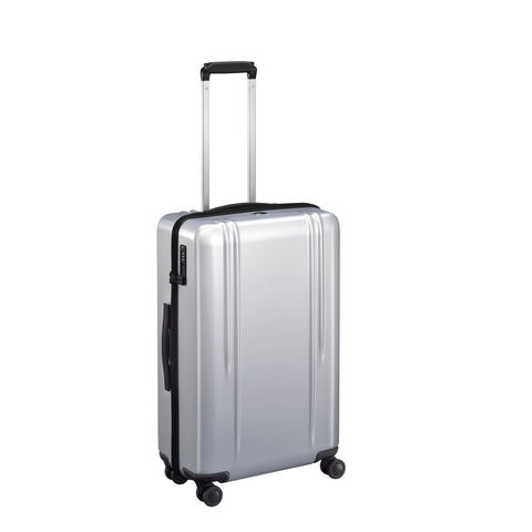 "ZRL Polycarbonate | 26"" Lightweight Spinner Travel Case SILVER"