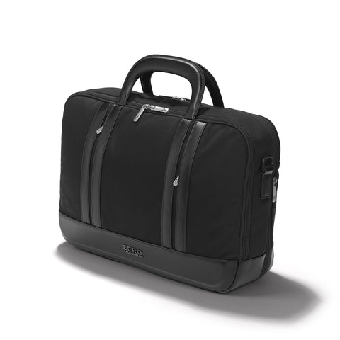 Zero Halliburton Journal Collection | Nylon Three-Way Expandable Briefcase BLACK