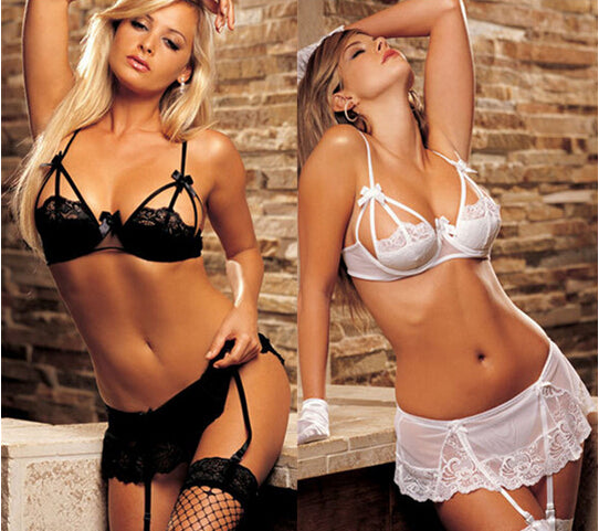 Sexy Bra suspender set g-string Stockings  #5079