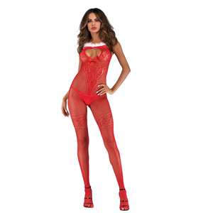 8532 Xmas Fishnet Bodystocking