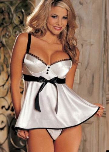Satin 'sunset' Babydoll With Matching Thong 2365