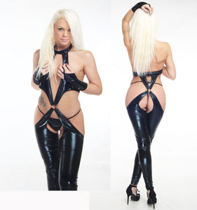 602 Womens Catsuit PVC Wet Look