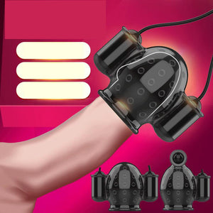 Mens Masturbator Penis Sheath Vibrator Multi Speed