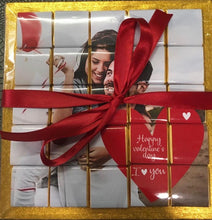 Personalised photo 25 Piece Chocolate Gift Board - Great Valentines Love Gift idea - Custom photo