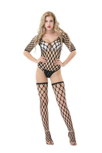 Fishnet Top Stocking and Thong Set #8794