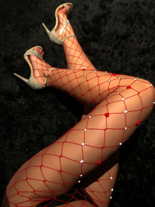 Nightfall Large Mesh Sequin Stockings