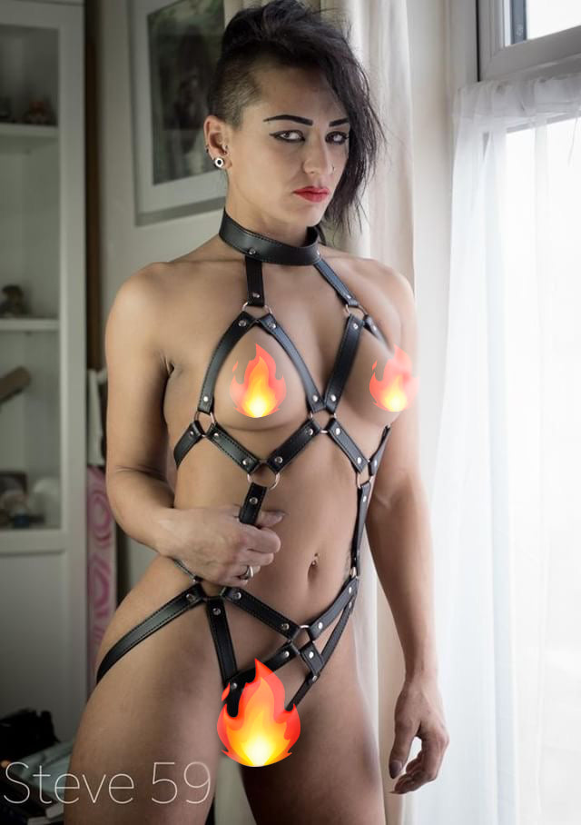 5248 Leiha Bondage Leather Harness