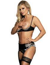 The R80319  Open Bust Bra and Thong  Take Me To Bed Set